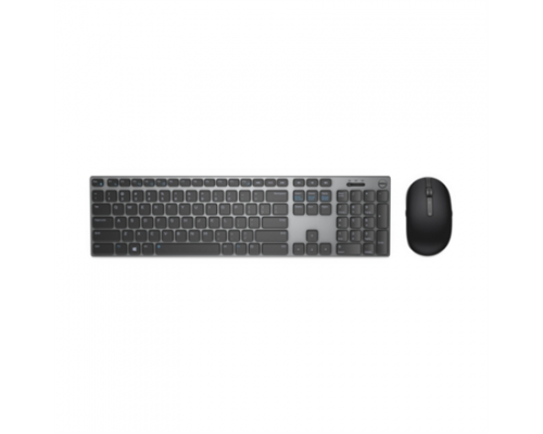 Dell KM717 Standard, Wireless, Keyboard layout EN, Grey, English, Numeric keypad, Bluetooth, Mouse included