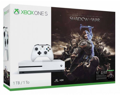 Microsoft Xbox One S 1TB + Middle Earth Console: Shadow of War + 6M LIVE