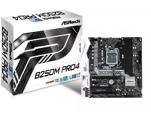 ASRock B250M Pro4, INTEL B250 Series,LGA1151,4 DDR4, 2 x M.2 (for SSD)
