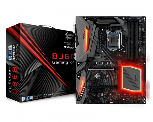 ASRock B360 GAMING K4, INTEL B360 Series, LGA1151, 4 DDR4, 6 x SATA3