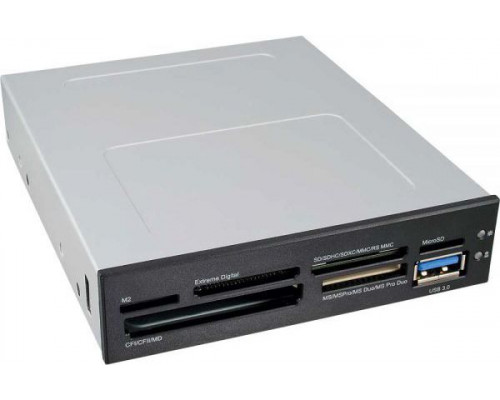 3.5L InLine front panel reader with card reader and USB 3.0 port (33394E)
