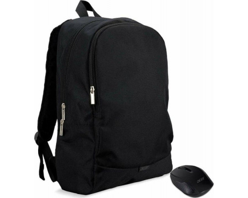 """Acer NTB STARTER KIT 15.6 """"ABG950 BACKPACK BLACK AND WIRELESS MOUSE BLACK Backpack"""