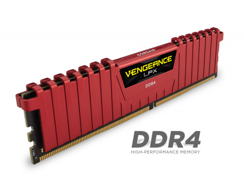 Corsair Vengeance LPX 8 GB DDR4 2400MHz XMP 2.0 - Red