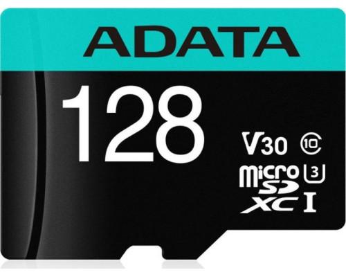 ADATA Premier Pro 128 GB UHS1 U3 V30 A2 + adapter (AUSDX128GUI3V30SA2-RA1)