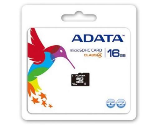 ADATA MicroSDHC 16GB Class 4 Card (AUSDH16GCL4RA1)