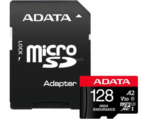 ADATA High Endurance MicroSDXC 128GB UHS-I / U3 A2 V30 Card (AUSDX128GUI3V30SHA2-RA1)