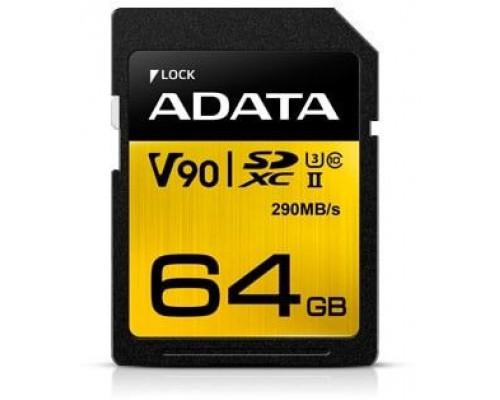 ADATA Premier One SDXC 64 GB Class 10 UHS-II / U3 card (ASDX64GUII3CL10-C)