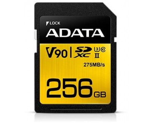 ADATA Premier One SDXC 256 GB Class 10 UHS-II / U3 V90 card (ASDX256GUII3CL10-C)