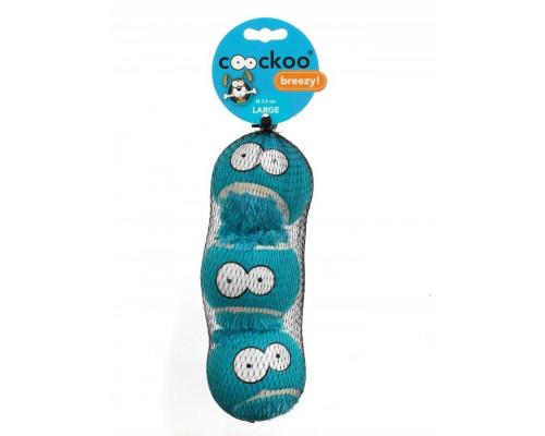 Suņu rotaļlieta EBI Coockoo Breezy Blue Balls Toy L 3pcs. 7.6cm