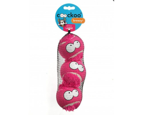 Suņu rotaļlieta EBI Coockoo Breezy Balls Pink L 3pcs. 7.6cm