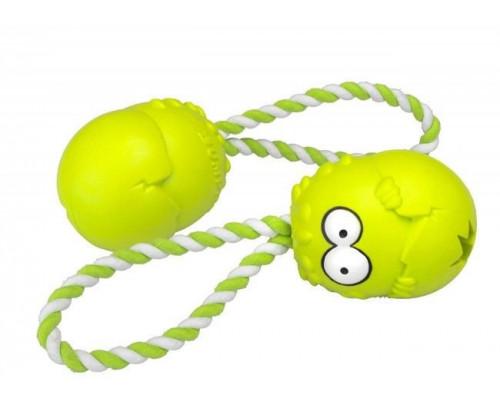 Suņu rotaļlieta EBI Coockoo Bumpies toy + Green Rope XL> 27kg 13x10x8.8cm