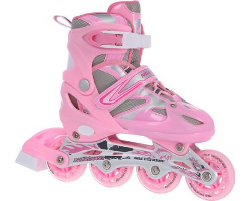 NILS Extreme Inline skates NH18366-A 2in1 pink s.39-42